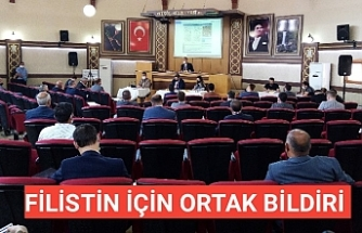 Başkan Taban Filistin Bildirisini Okudu